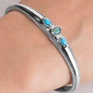 Carolyn Pollack Turquoise Opal Bracelet 925 Silver